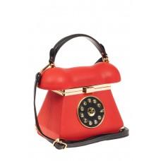 На фото 1 - Театральная сумочка из искусственной кожи, цвет красный