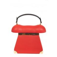 На фото 3 - Театральная сумочка из искусственной кожи, цвет красный