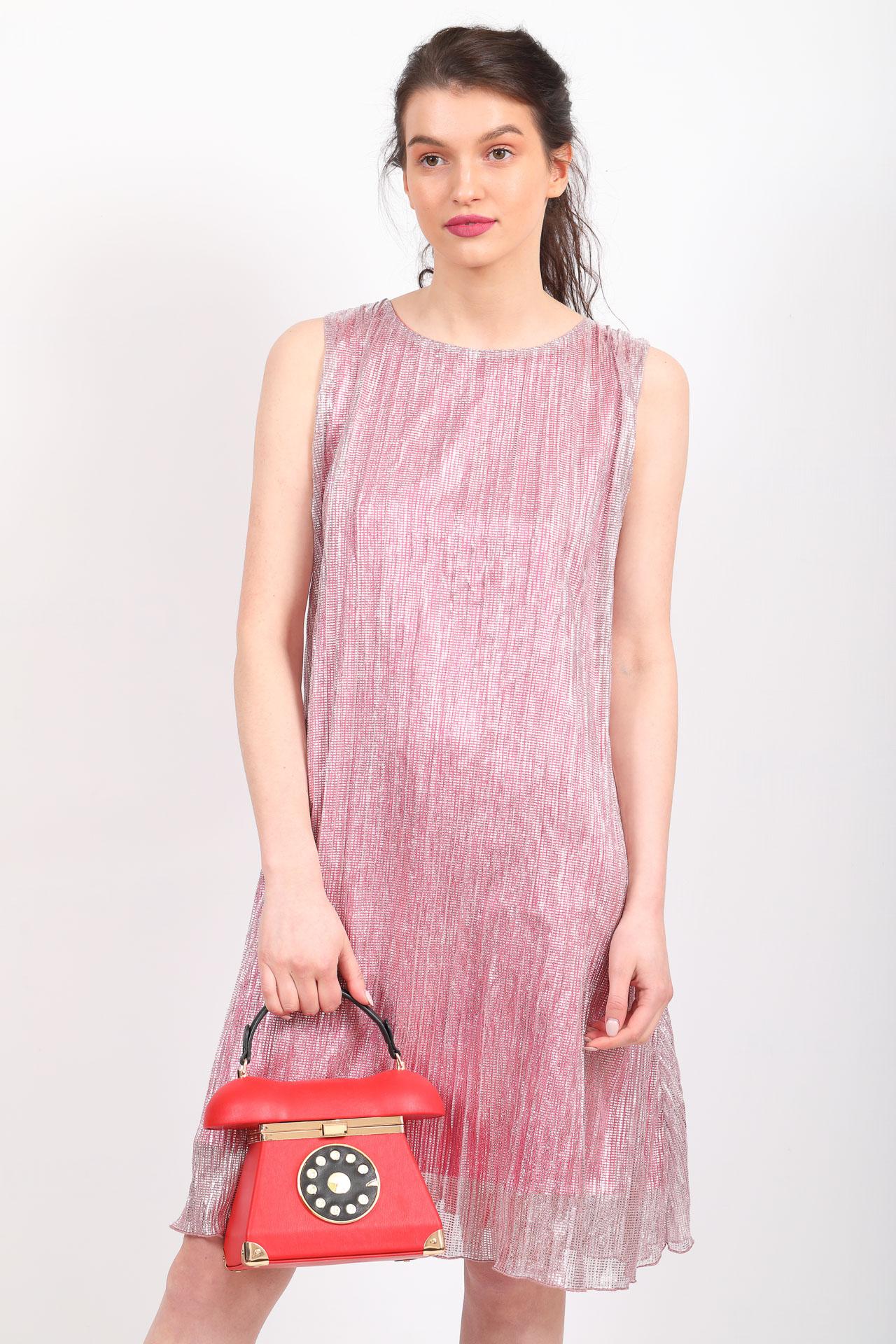 На фото 5 - Театральная сумочка из искусственной кожи, цвет красный