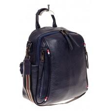 На фото 1 - Женский рюкзак из натуральной кожи, цвет си...