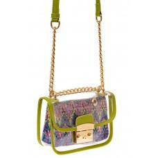 На фото 1 - Прозрачная сумочка с зеленой окантовкой