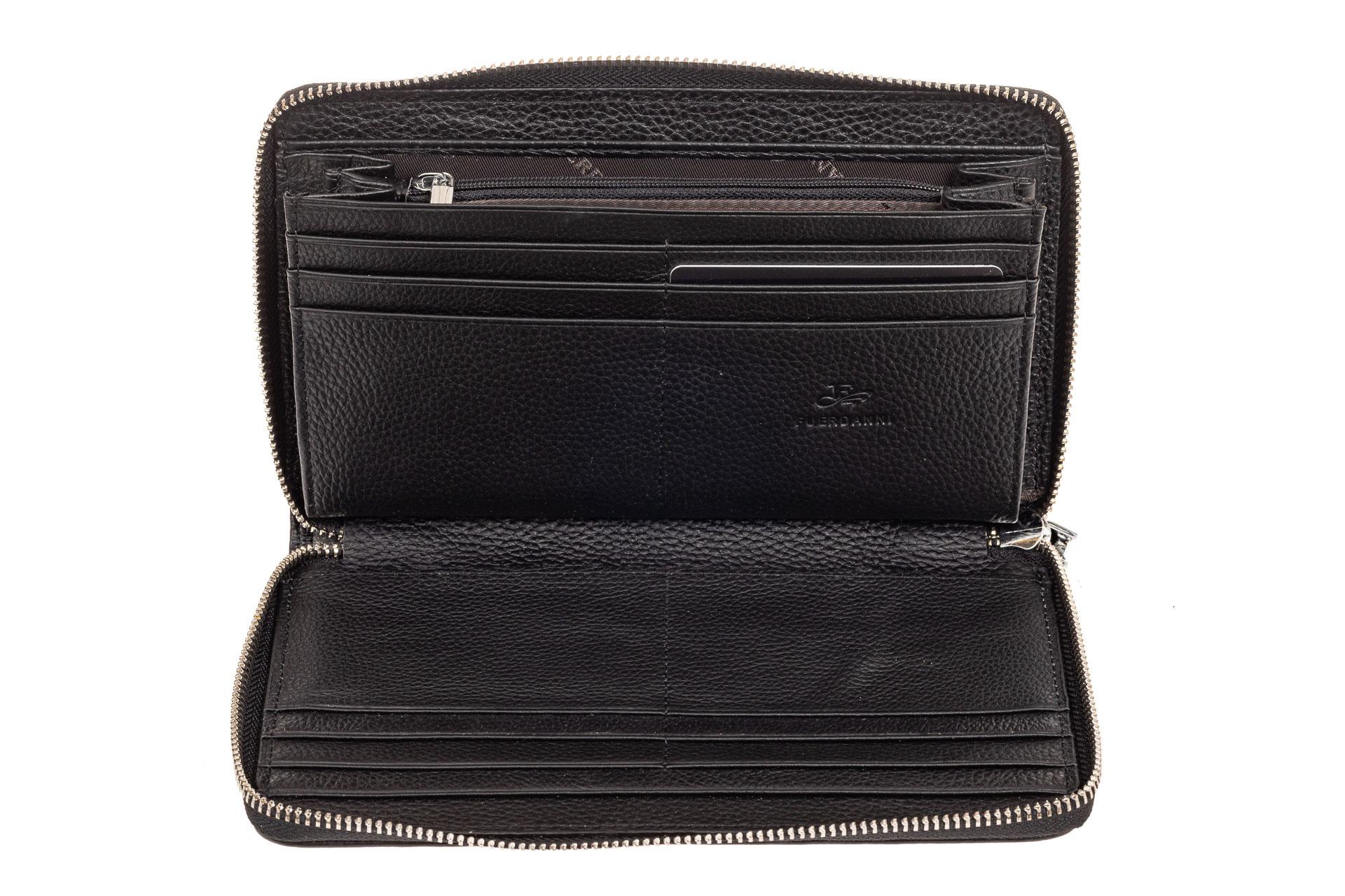 На фото 2 - Мужской клатч из натуральной кожи, цвет черный