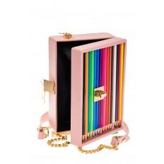 На фото 4 - Каркасная театральная сумочка из искусственной кожи, цвет розовый