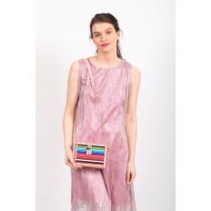 На фото 5 - Каркасная театральная сумочка из искусственной кожи, цвет розовый