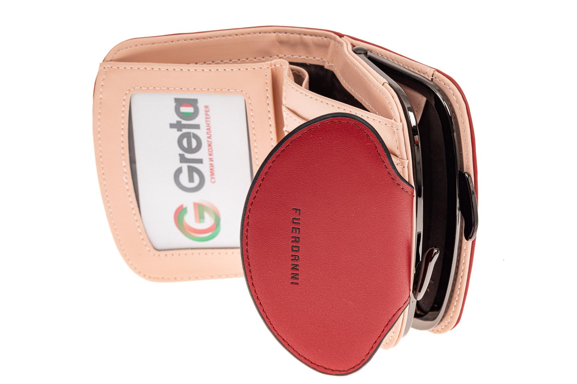 На фото 2 - Женское портмоне из искусственной кожи, цвет бордо