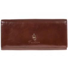 На фото 1 - Полноразмерное портмоне шоколадного цвета F8061