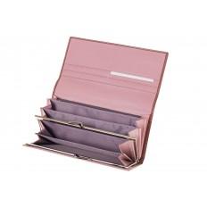 На фото 2 - Полноразмерное портмоне коричневого цвета F8061