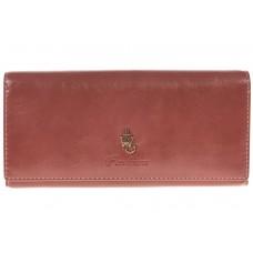 На фото 1 - Полноразмерное портмоне коричневого цвета F8061
