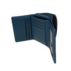 На фото 2 - Маленький женский кошелёк из искусственной кожи, цвет синий