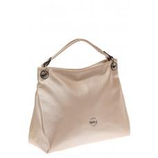 На фото 1 - Женская сумка из искусственной кожи, цвет молочный перламутр