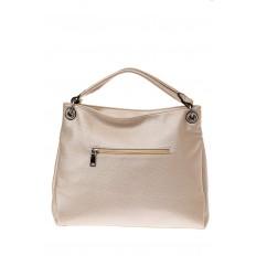 На фото 2 - Женская сумка из искусственной кожи, цвет молочный перламутр