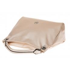 На фото 3 - Женская сумка из искусственной кожи, цвет молочный перламутр