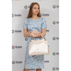 На фото 4 - Женская сумка из искусственной кожи, цвет молочный перламутр