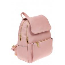На фото 1 - Женский рюкзак из искусственной кожи с клап...