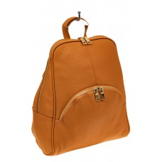 На фото 1 - Классический женский рюкзак из эко-кожи, цв...