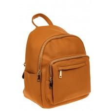 На фото 1 - Городской женский рюкзак из искусственной кожи, цвет рыжий