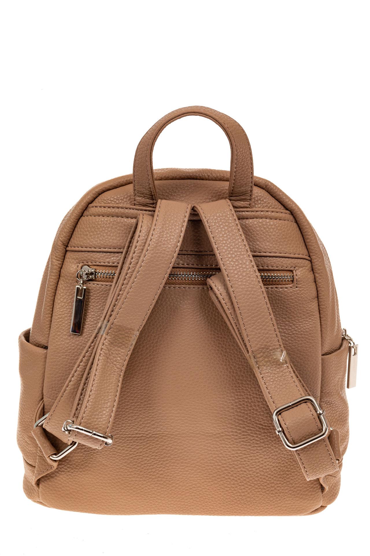 На фото 2 - Женский рюкзачок для города из искусственной кожи, цвет бежевый