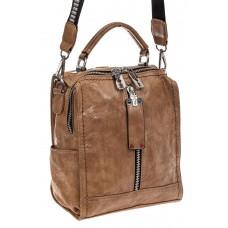 На фото 1 - Сумка женская рюкзак из искусственной кожи,...