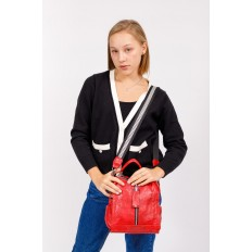 На фото 5 - Сумка женская рюкзак из искусственной кожи, цвет красный