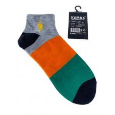 На фото 1 - Носки молодёжные в крупную полоску, мультицвет