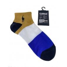 На фото 1 - Разноцветные молодёжные носки в крупную полоску