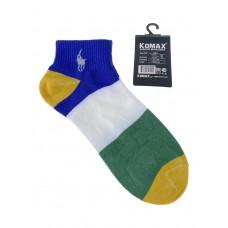 На фото 1 - Молодёжные разноцветные носки в крупную полоску