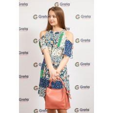 На фото 4 - Женская сумка-шоппер из натуральной кожи, цвет коралл