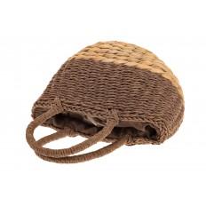 На фото 4 - Сумка-корзинка коричневого цвета 6S17-005-2