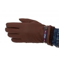 На фото 1 - Коричневые осенние перчатки мужские с Touch Screen