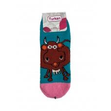 На фото 1 - Махровые носки с забавным принтом, мультицвет
