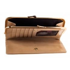 На фото 2 - Женское портмоне из искусственной кожи, цвет бежевый