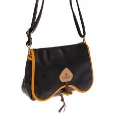 на фото Черная saddle bag из искусственной кожи K032MJ5