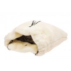 На фото 4 - Сумка женская из натурального меха, цвет белый