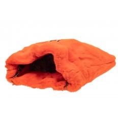 На фото 4 - Сумка женская из натурального меха, цвет оранжевый