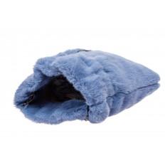 На фото 4 - Сумка женская из натурального меха, цвет синий