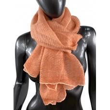 На фото 1 - Лёгкий однотонный платок, цвет оранжево-розовый