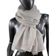 На фото 1 - Лёгкий однотонный платок, цвет серый