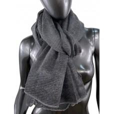 На фото 1 - Лёгкий однотонный платок, цвет тёмно-серый