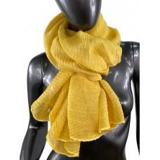 На фото 1 - Лёгкий однотонный платок, цвет медовый