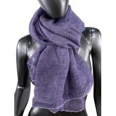 На фото 1 - Лёгкий однотонный платок, цвет тёмно-фиолетовый