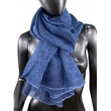 На фото 1 - Лёгкий однотонный платок, цвет джинсовый