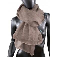 На фото 1 - Лёгкий однотонный платок, цвет серо-коричневый