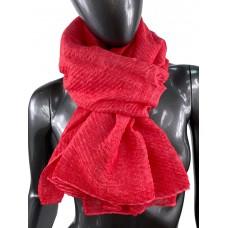 На фото 1 - Лёгкий однотонный платок, цвет красный