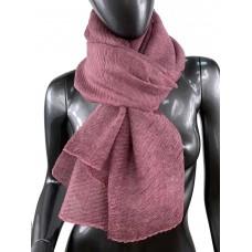 На фото 1 - Лёгкий однотонный платок, цвет розового дерева