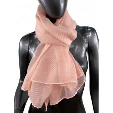 На фото 1 - Лёгкий однотонный платок, цвет нежно-розовый