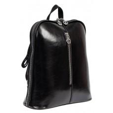 На фото 1 - Рюкзак-трансформер женский из искусственной кожи, цвет чёрный