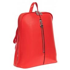 На фото 1 - Рюкзак-трансформер женский из искусственной кожи, цвет красный