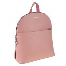 На фото 1 - Рюкзак-трансформер женский из экокожи с жёстким каркасом, цвет розовый