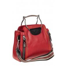 На фото 1 - Маленькая женская сумка из искусственной кожи, цвет красный