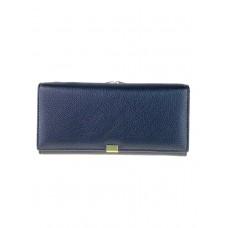 На фото 1 - Женское полноразмерное портмоне из фактурной натуральной кожи, цвет чёрный